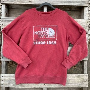 The North Face red logo pullover sweatshirt